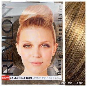 Frosted dark blonde light brown bun wig